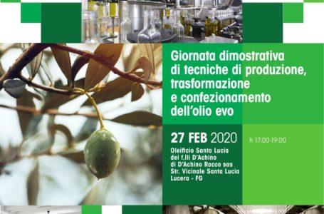 Giornata dimostrativa di tecniche di produzione,  trasformazione e confezionamento dell'olio evo