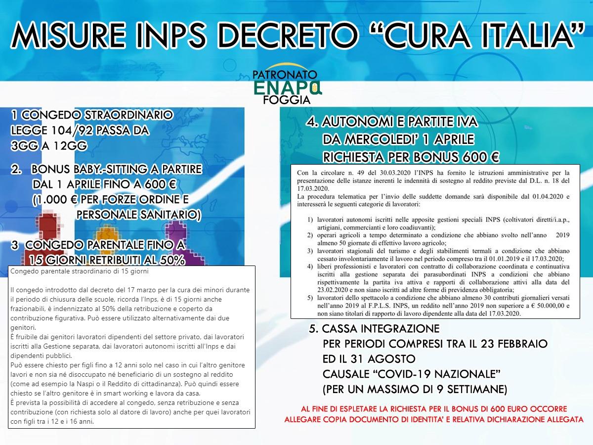 IL DECRETO CURA ITALIA i consigli di CONFAGRICOLTURA FOGGIA